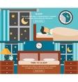 Sleep Time Banner vector image vector image