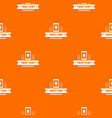 smart technology pattern orange vector image vector image
