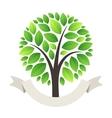Stylized Green Tree Logo vector image vector image