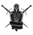 sword shield and helmet 0002 vector image