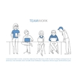 Teamwork team concept vector image vector image