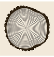 tree rings background vector image vector image