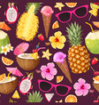 tropic summer pattern vector image vector image