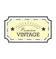 vintage label design template for you logo vector image vector image