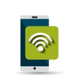 white smartphone wifi network digital vector image