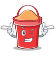 wink bucket character cartoon style vector image vector image