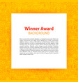 winner award paper template vector image