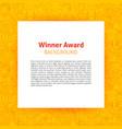 winner award paper template vector image vector image