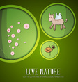 with nature and horse vector image vector image