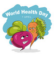 world health day 7 april vector image