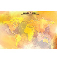 World map - watercolor art vector image
