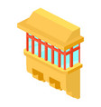 yellow balcony icon isometric 3d style vector image vector image