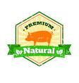 butcher shop vintage logo natural food farm logo vector image