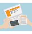 Online ShoppingE-Commerce Concept vector image