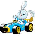 bunny in a sport carxa vector image