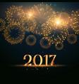 2017 new year fireworks celebration background vector image vector image