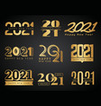 2021 logo graphic design calendar lettering vector image vector image
