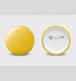 3d realistic yellow metal plastic blank vector image vector image