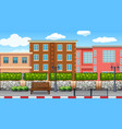 an urban scene background vector image vector image