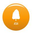 ash tree icon orange vector image vector image