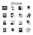 atm related icons contains such icons as money vector image vector image