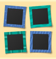 baby collage photo family portraits frames vector image