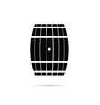 barrel in black vector image vector image