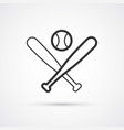 baseball sport icon bats and ball eps10 vector image