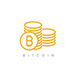 bitcoin simple concept vector image