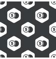 Black hexagon dollar coin pattern vector image vector image