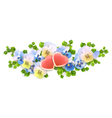 bouquet flowers hearts on white background vector image vector image