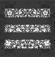 calligraphic ornaments for design on chalkboard vector image vector image