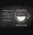 chalk drawn sketch babyccino drink vector image