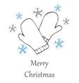 Christmas and new year hand drawn seamles vector image vector image