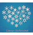 Christmas snowflakes form of heart vector image vector image