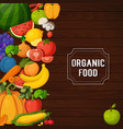 colorful fruits and vegetables banners vector image vector image