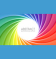 colorful rainbow swirl background vector image vector image