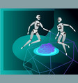 concept of artificial intelligence and cyber vector image