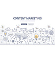 Content Marketing Doodle Concept vector image vector image