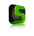 creative design letter s in modern style vector image vector image