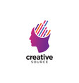 digital abstract human head logo for creative vector image vector image