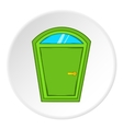 Door from house icon cartoon style vector image vector image
