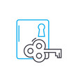 door lock linear icon concept door lock line vector image vector image