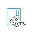 door lock linear icon concept door lock line vector image