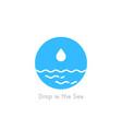 drop in sea simple logo vector image