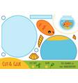 education paper game for children aquarium vector image vector image