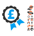 featured pound price label icon with love bonus vector image vector image
