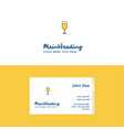 flat glass logo and visiting card template vector image