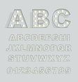 Font with lamps vector image vector image
