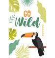 go wild on a tropical wildlife safari vector image vector image
